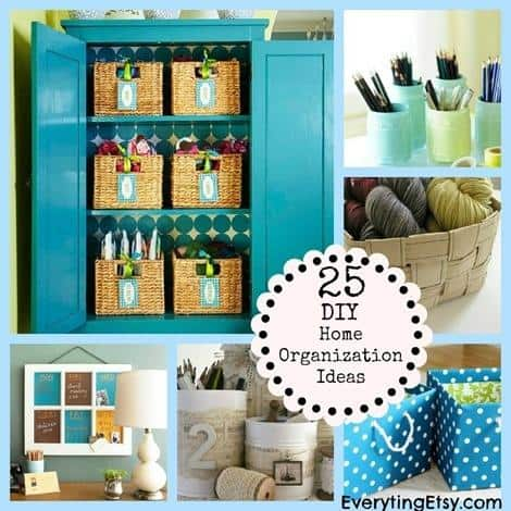 25 diy home organization ideas
