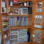 Repurposed Armoire For Scrapbooking Storage