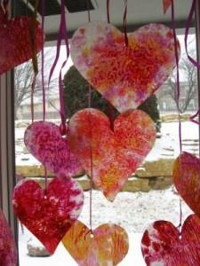crayon shavings hearts diy valentine crafts