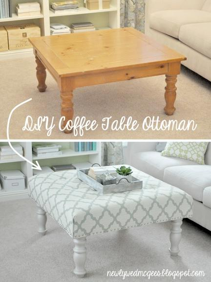 diy coffee table ottoman