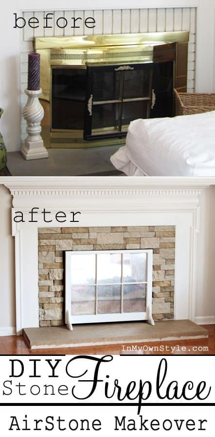 diy fireplace makeover 2