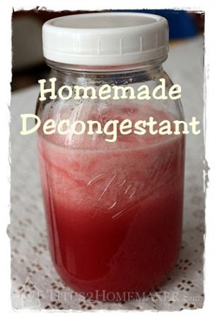 homemade decongestant