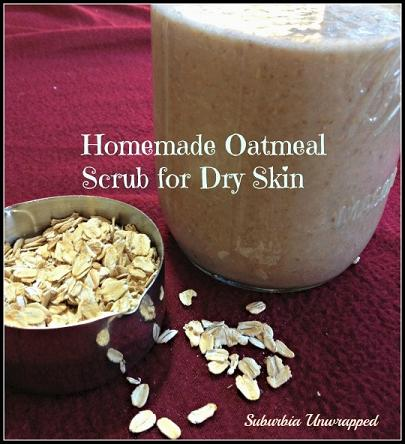 homemade oatmeal scrub for dry skin