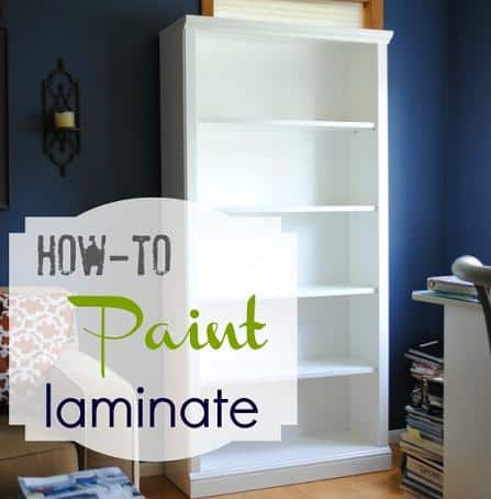how to paint laminate diy furniture