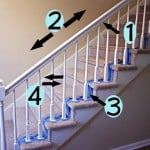 how to paint stairway railings diy painting