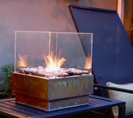 make your own glass surround fire pit