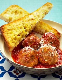 slow cooker meatballs and garlic bread recipe
