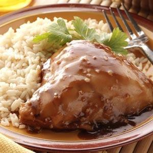 sweet and saucy crock pot chicken