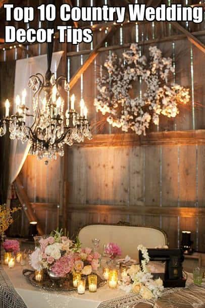 top 10 country wedding decor tips