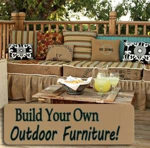 Build Your Own Outdoor Furniture | DIY Cozy Home