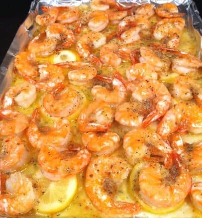 Butter Lemon Shrimp With Italian Seasoning