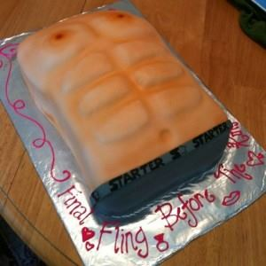 clean bachelorette party cake ideas