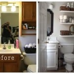 diy before and after bathroom makeover