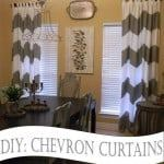 diy chevron curtains tutorial