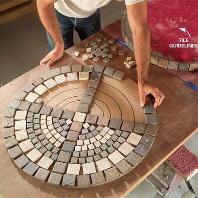 diy how to make a mosaic outdoor table
