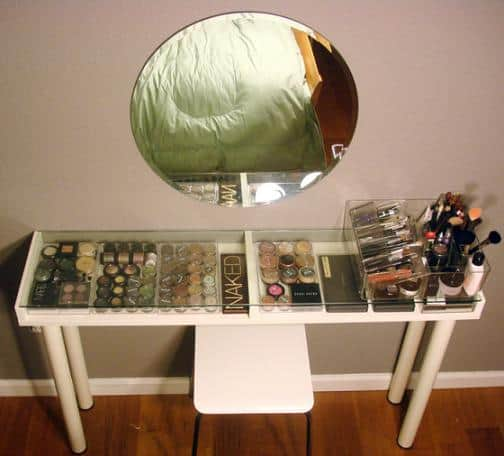 diy ikea hack makeup storage and vanity
