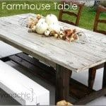 diy outdoor farm house table plans