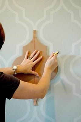 diy painted wall paper accent wall tutorial