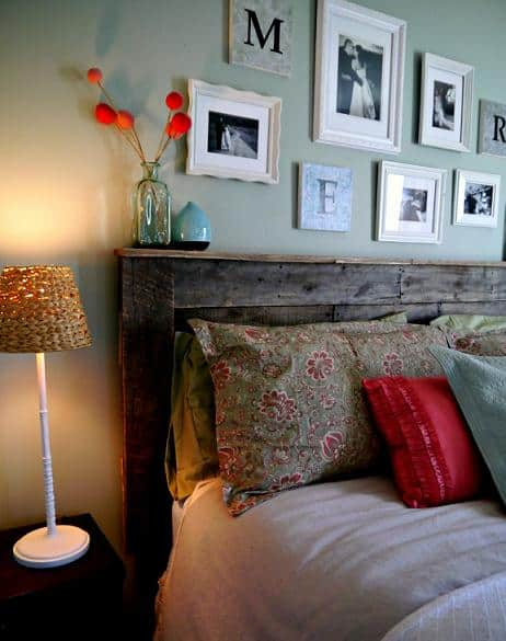diy pallet headboard idea