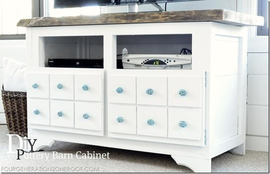 diy pottery barn inspired media cabinet