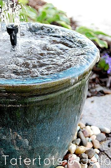 diy recirculating water fountain