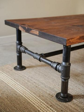 diy rustic industrial coffee table