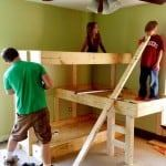 diy three level bunk bed