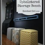 diy upholstered storage bench cubes free plans