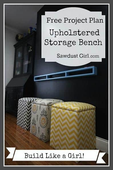 Diy Upholstered Storage Bench Free Plans