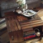 diy vintage wine crate coffee table instructions