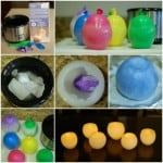 diy wax luminaries candles