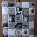 diy wedding photo quilt