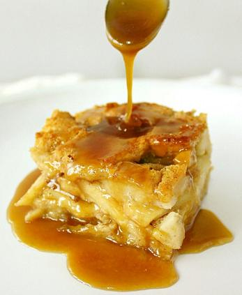 drunken apple bread pudding