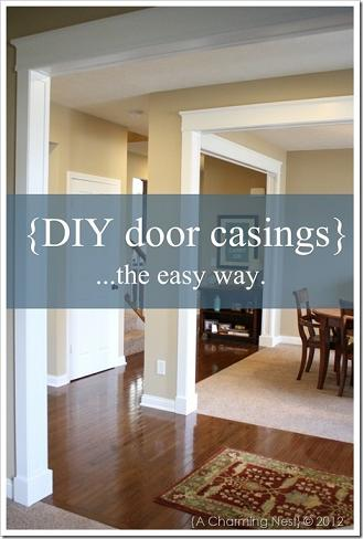 easy diy door casings