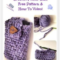 free pattern crochete phone case droid iphone