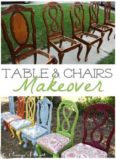 fun table and chairs makeover