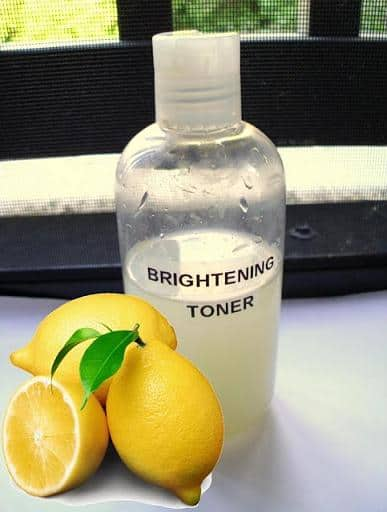 homemade skin brightening toner