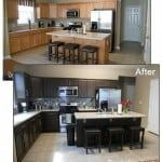 how to paint kitchen cabinets dark chocolate