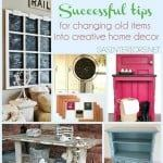 how to upcycle old items into home decor