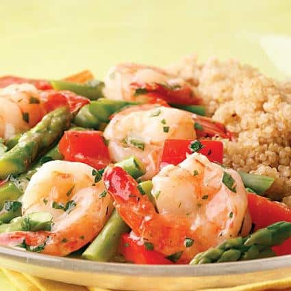 lemon garlic shrimp and vegetables recipe