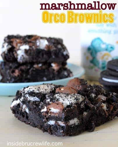 marshmallow oreo brownies recipe