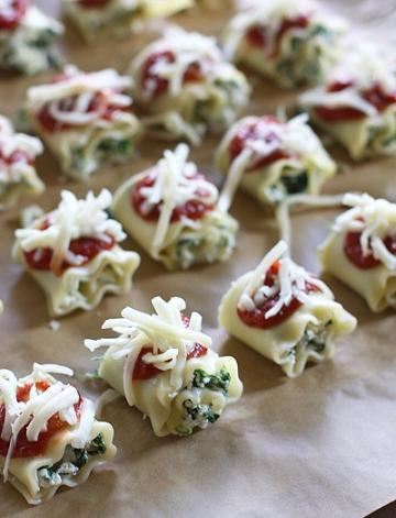 mini lasagna roll ups appetizer