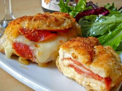 pepperoni mozzarella stuffed chicken breasts