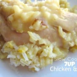 slow cooker 7up chicken and rice recipe