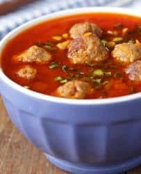 slow cooker cheese and meatball soup