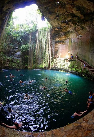 world's most beautiful swimming holes chichen itza mexico