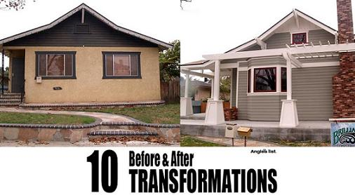 Before and after mobile home exterior makeover joy studio design gallery best design House transformations exterior