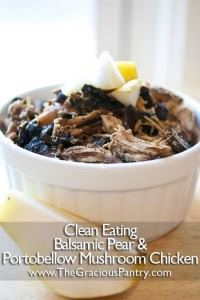 Balsamic Pear And Portobello Mushroom Slow Cooker Chicken