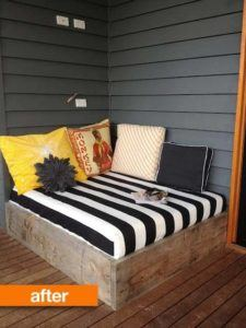 box bed sitting area