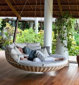 round porch swing bed